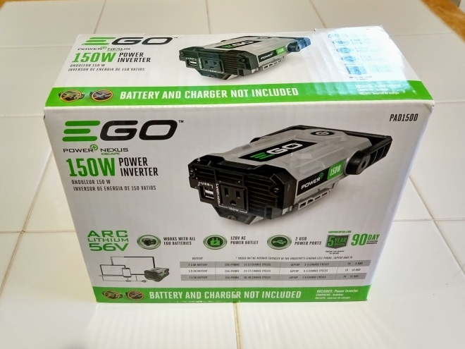 The EGO Power+ Nexus Escape Power Inverter – Powered by Battery